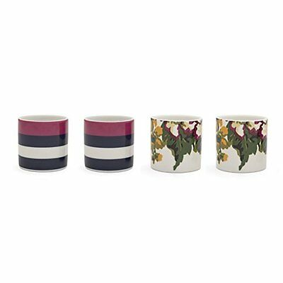 Joules New Bone China - Portauova, motivo floreale, 4 pezzi, multicolore (s7v)