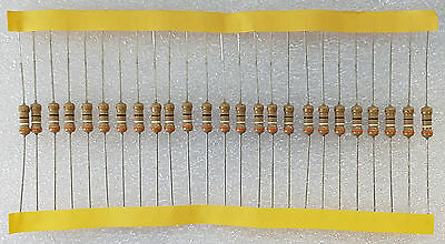25pcs 39 Ohm (39R) 0.5W Carbon Film Resistor 5% Flameproof