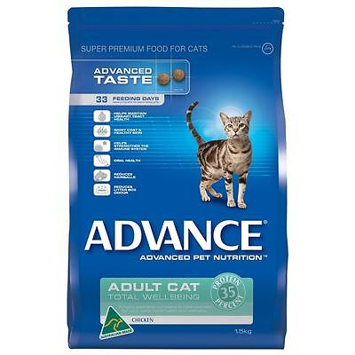 Advance Cat Adult Chicken Cat Dry Food - Sizes 1.5kg and 3kg