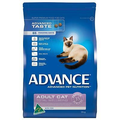 Advance Cat Adult Total Wellbeing Fish Cat Dry Food - Sizes 1.5kg and 3kg