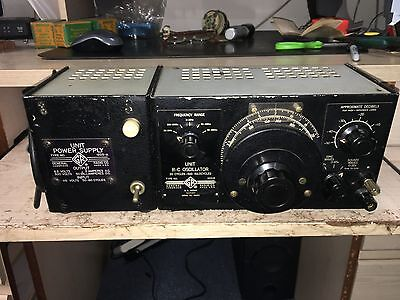 Vintage General Radio R-C Oscillator Unit 1210-B And Power Supply 1203-A