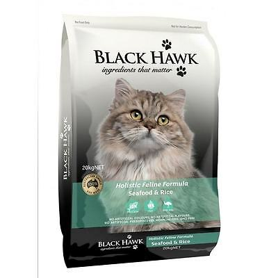 Black Hawk Seafood And Rice Feline Cat Dry Food - Sizes 1.5kg and 3kg