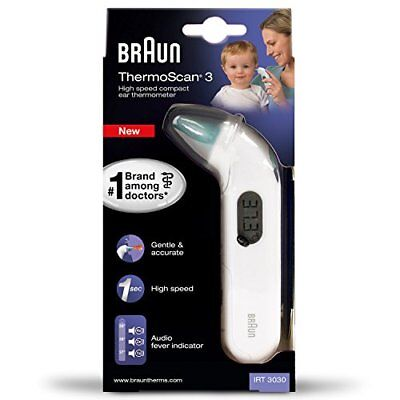 Braun IRT3030 ThermoScan 3 Termometro Auricolare a Infrarossi (d1J)
