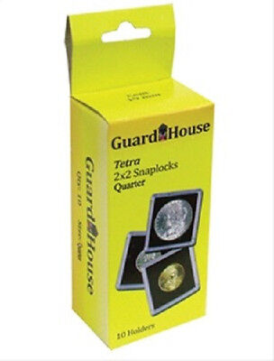 10 Guardhouse 2x2 Tetra Snaplock Coin Holders for Half Dollar 30.6mm