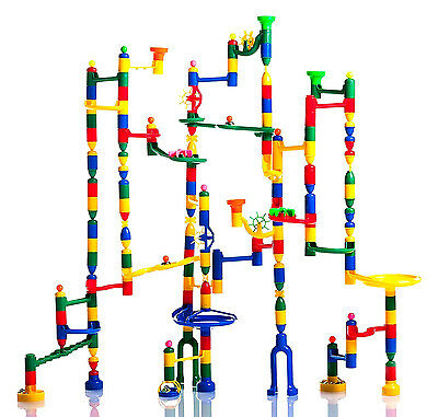 Marble Mania Madness Master Set Huge 220 Piece Marble Run 200 Tracks+ 20 Marbles