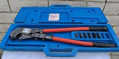 Thomas & Betts TBM8 Compression Crimper Tool with all 6 dies