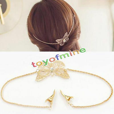 Hot new Fashion Women Crystal Rhinestone Chain Headband Hair Band Hair Clip
