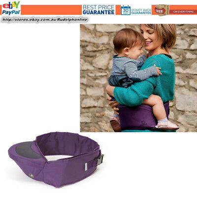 NEW Hippychick hipseat Plain Purple  baby sit on non-spit pad carrier new mum