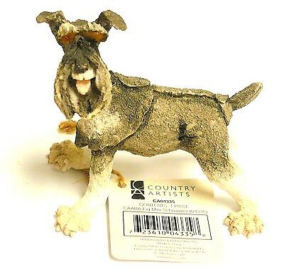 A Breed Apart Enesco Mini Schnauzer Dog Figurine 04335 Country Artists Free Ship