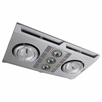NEW Martec Profile Plus 2 Heat Silver LED Bathroom 3-in-1 Exhaust fan with Light