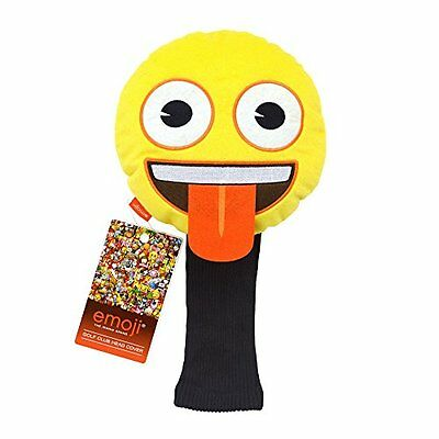 Emoji Tongue Novelty Coprimazze da golf, colore: giallo (U5d)