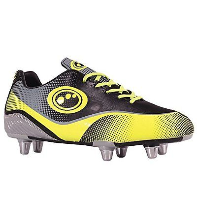 OptimumAtomik - Rugby Ragazzi, nero (Black (Yellow/Grey)), 37 EU (o3e)