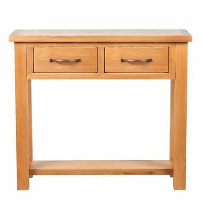 Solid Oak Console Table Side Hall Furniture Hallway End Drawer Wood Telephone