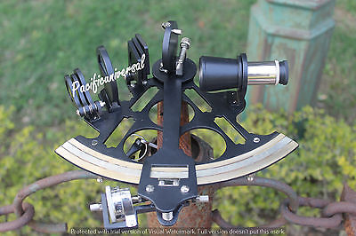 """Natical sextant 8"""" Working Black Powder coating Vintage Maritime Astrolabe Gift."""