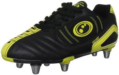 Optimum Velocity Scarpa Da Rugby Junior, Nero/Giallo, 36 (c2C)