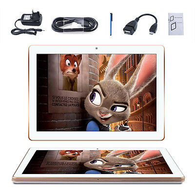 "10.1"" Zoll HD 1.3GHz Quad Core A7 Android Tablet PC Compute Dual SIM/Cam Wifi 3G"