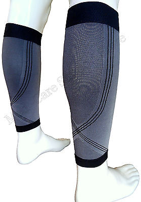 Calf Leg Running Compression Sleeve Socks Shin Splint Support Brace Guard Sports