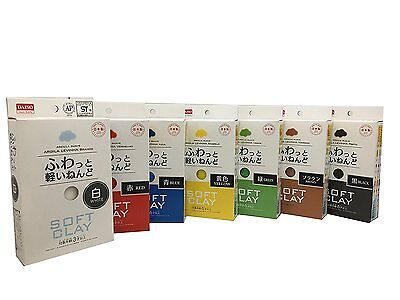 NEW Daiso Japan Soft Clay 7 colors set DIY Handmade F/S Japan Import