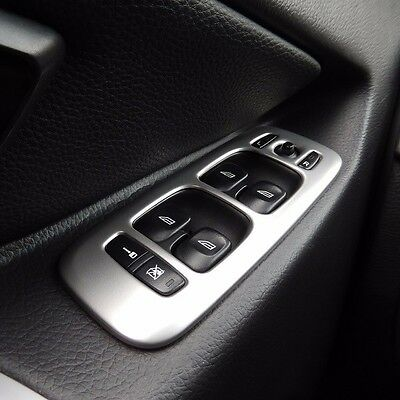 Stainless steel Interior Door Armrest Window Switch Buttons Cover for Volvo XC90