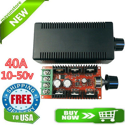 12V 24V 36V 48V 40A 2000W PWM DC Motor Speed Controller Adjustable Variable spee