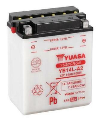 Yuasa YB14L-A2 Battery 14Ah & Acid Pack, Motorcycle Battery