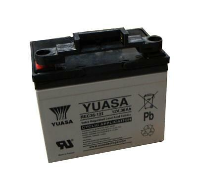 Yuasa 36Ah Golf Trolley Battery with T-Bar , Replaces 33Ah, 1 Yr Wnty