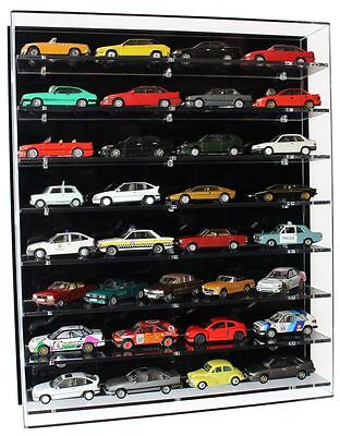Acrylic Model Wall Display Case for 1:43 Model Cars with 8 Shelves