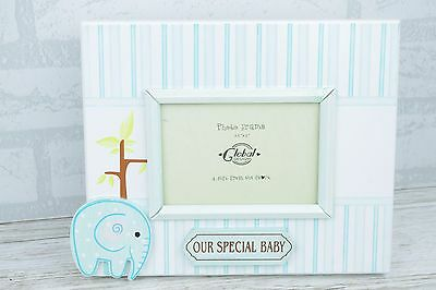 Baby Photo Fame Blue Our Boy Special Elephant Scan Nursery Decor 3.5 x 5 SG1285