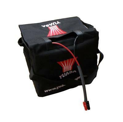 Yuasa 36Ah Golf Trolley Battery, Lead & Battery Bag Set 12V Gel VRLA 33Ah