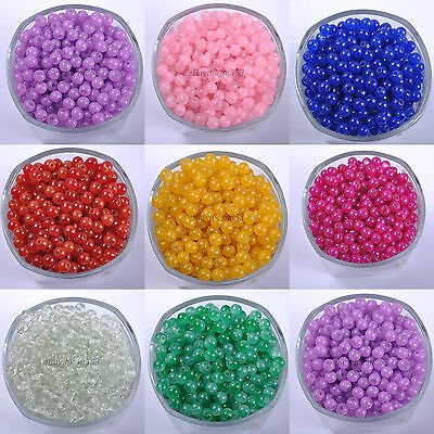 Quality Czech Opaque Coated Glass Pearl Round Beads - 4MM, 6MM, 8MM & 10MM