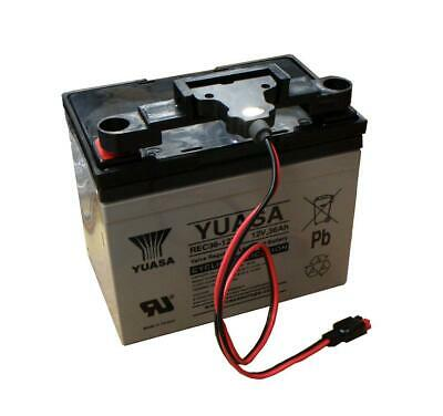 Yuasa 36Ah Golf Battery with T-Bar fitment & Powerkaddy Lead, REC36-12I