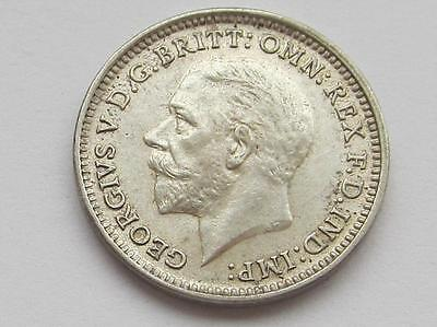 George V silver Threepence 1926 - Great collectable coin close uncirculated
