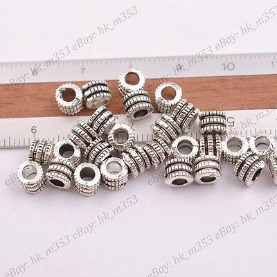 50pcs Bronze Metal Beads Loose Spacer DIY Craft Charm Jewelry Finding 7.5x9.5mm