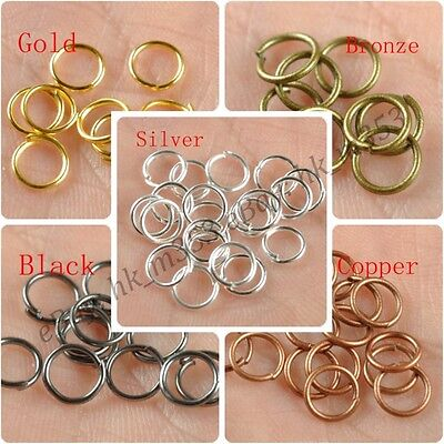 4MM,5MM,6MM,7MM,8MM,9MM,10MM, Metal Jump Rings Open Connectors Jewelry Make Find