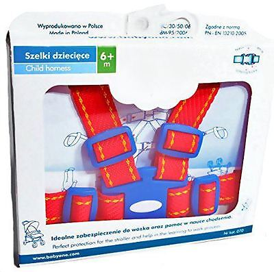 Baby Toddler Walking and Pram Safety Harness Reins Strap  - Red