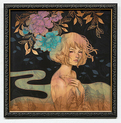 "~ Audrey Kawasaki ""It Was You"" ~  original, limited, signed and framed print"