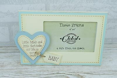 Baby Photo Frame Little Hands Little Feet Blue Boy Scan Picture 4 x 6 F0198HF