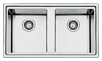 Smeg LD862-2 Mira Stainless Steel Double Bowl Inset Sink