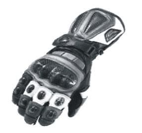 Leather motorcycle gloves carbon fiber gauntlet motorbike gloves racing