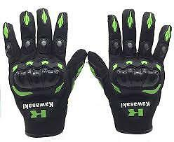 Armored Kawasaki Motocross gloves, Dirt bike gloves, Motorcycle gloves