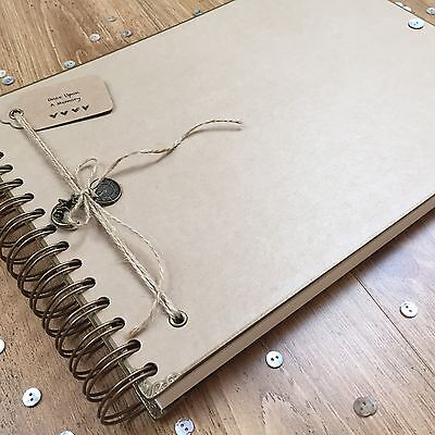 Handmade Personalised Photo Album/ Scrapbook/ Memory Book/ Guest Book A4 Luxury