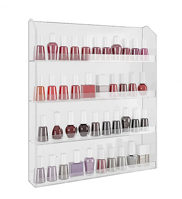 *BEST Nail Polish Wall Rack Organiser Shelf Storage Holds Up to 40 Bottles NEW