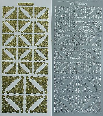 CORNER Edwardian Two Sizes PEEL OFF STICKERS Corners Delicate Cardmaking