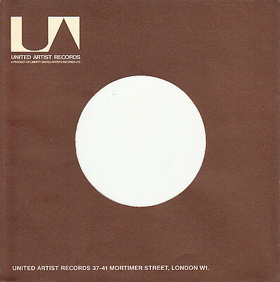 1 FIRMENLOCHCOVER * UNITED ARTISTS * UK * Repro COVER *NEU* Single Aufwertung