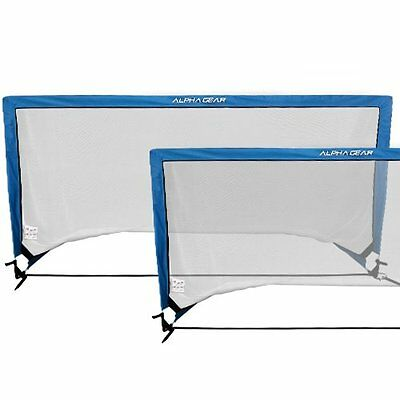 ALPHA Gear PAIR of Square Pop Up Goal - 2m Wide x 1m High in Carry Bag
