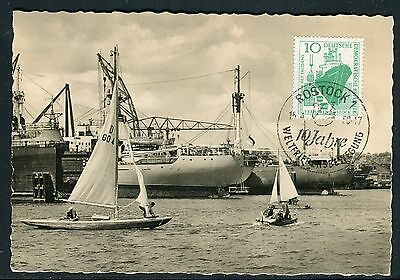 Allemagne - Carte Maximum 1959 - Port de Rostock