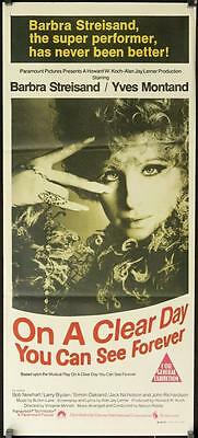 257 ON A CLEAR DAY YOU CAN SEE FOREVER Aust daybill '70 Barbra Streisand