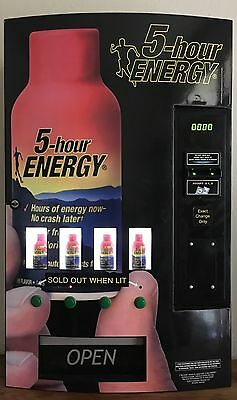 5-hour Energy Vending Machine Energy Shot Drink 4 Slot Wall Mount Investment