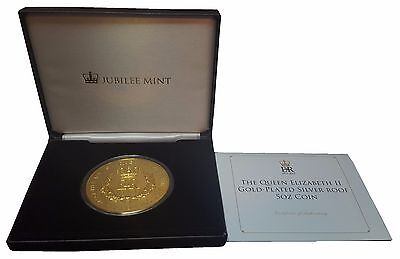 2015 The Gold Elizabeth II Gold-Plated Silver Proof 5oz Five Pound Coin