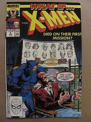 What if #9 Marvel Comics 1989 Series X-Men Died On First Mission 9.2 Near Mint-